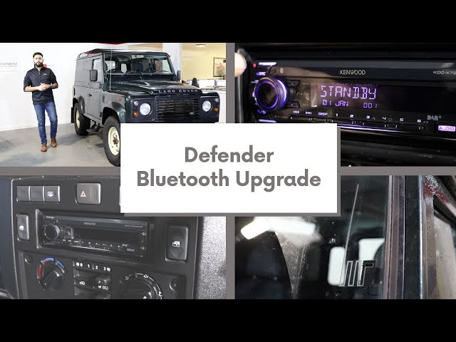 Defender 90 DAB radio upgrade and Bluetooth streaming 😎