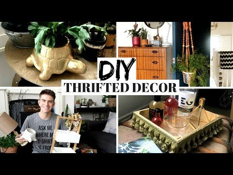 THRIFTED DIY HOME DECOR | CHARITY SHOP UPCYCLE CHALLENGE INSPIRED BY HERMIONE CHANTAL!