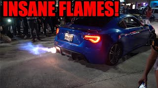 HOW DID HE NOT BLOW UP? - Subaru BRZ Shoots INSANE FLAMES for Minutes Straight!