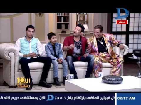 العاشرة مساء| سعد الصغير يقتحم الأستوديو ليفاجئ شعبان عبد الرحيم على الهواء ويقبل رأسه ويده