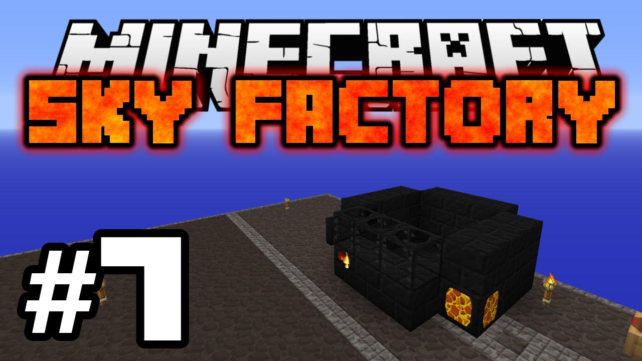 Minecraft: SKY FACTORY #7 - SMELTERY - YouTube