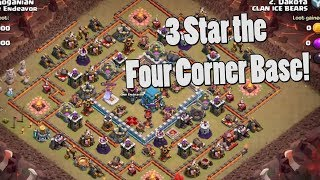 3 Star the Four Corner Base TH12 -- New Trick to Stop BoWitch |  Anti 2 Star Bases | Clash of Clans