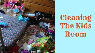 Cleaning the kids Bedroom