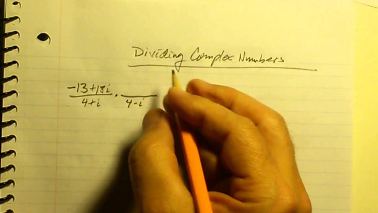 Dividing Complex Numbers - YouTube