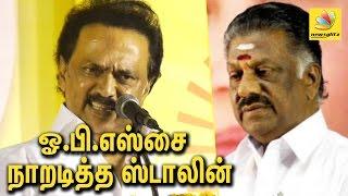 பதவிக்காக நடிக்கார் ஓ.பி.எஸ் | MK Stalin slams OPS | Speech, RK Nagar by election