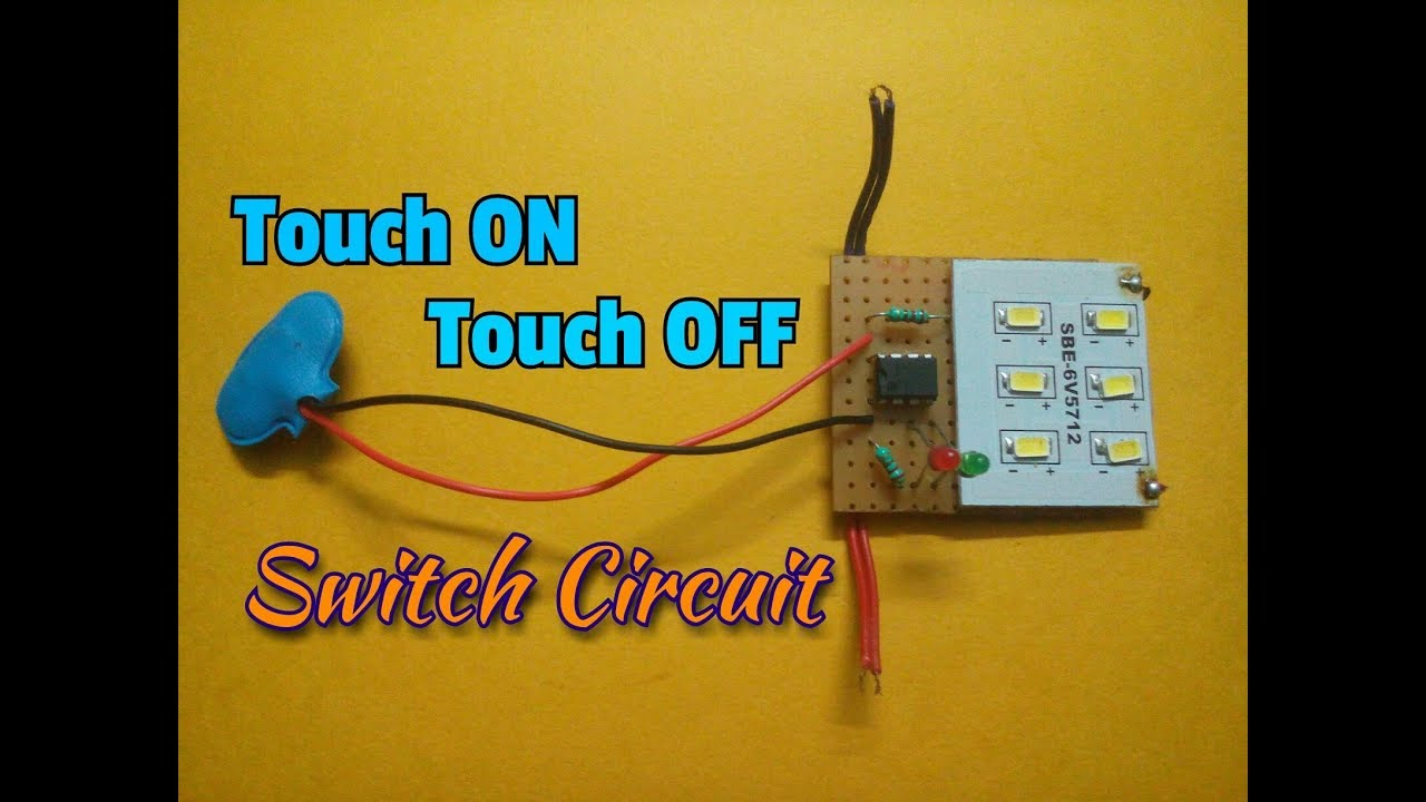 Simple Touch Alarm Circuit Using Ic 555 Youtube