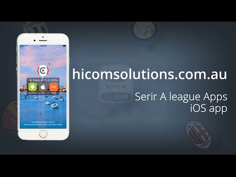 Serie A live score football ios app source code for sale