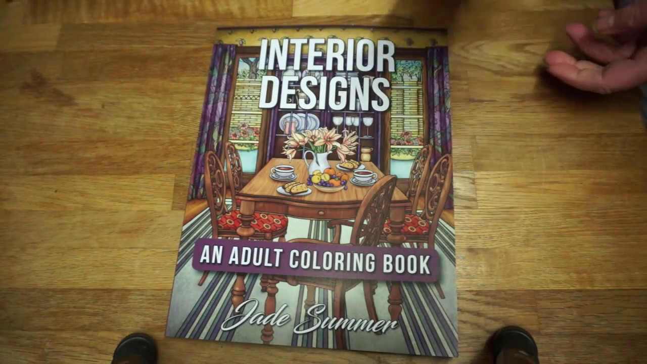 Coloring book for adults for pc - Interior Designs An Adult Coloring Book Jade Summer Flip Through