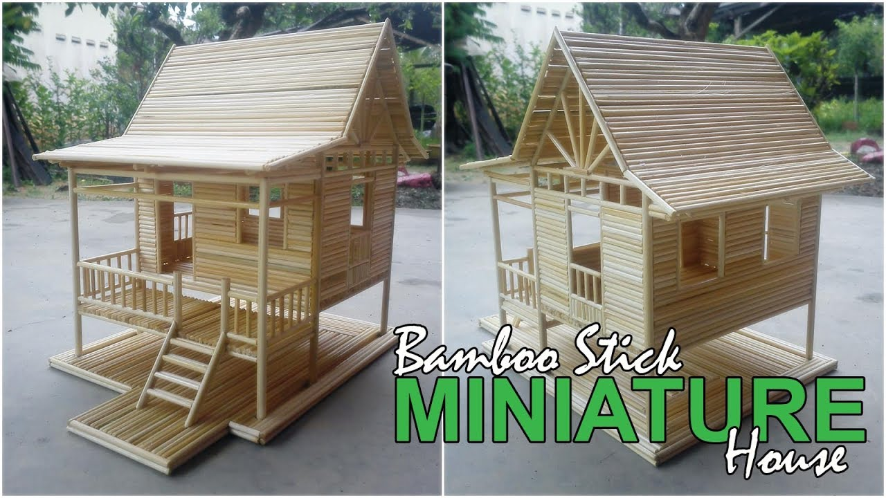 Bamboo Stick Miniature House - Simple Village House (Custom Made ... for Simple Bamboo House  58lpg