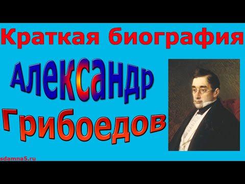 Краткая биография Александра Грибоедова