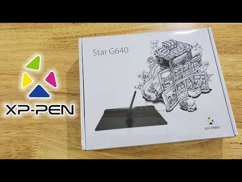 XP Pen Star G640 Pen Tablet Unboxing and Installation