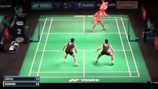 New Badminton Open 2015 | Liu Cheng  Lu Kai vs Ko Sung Hyun  Shin Baek Choel