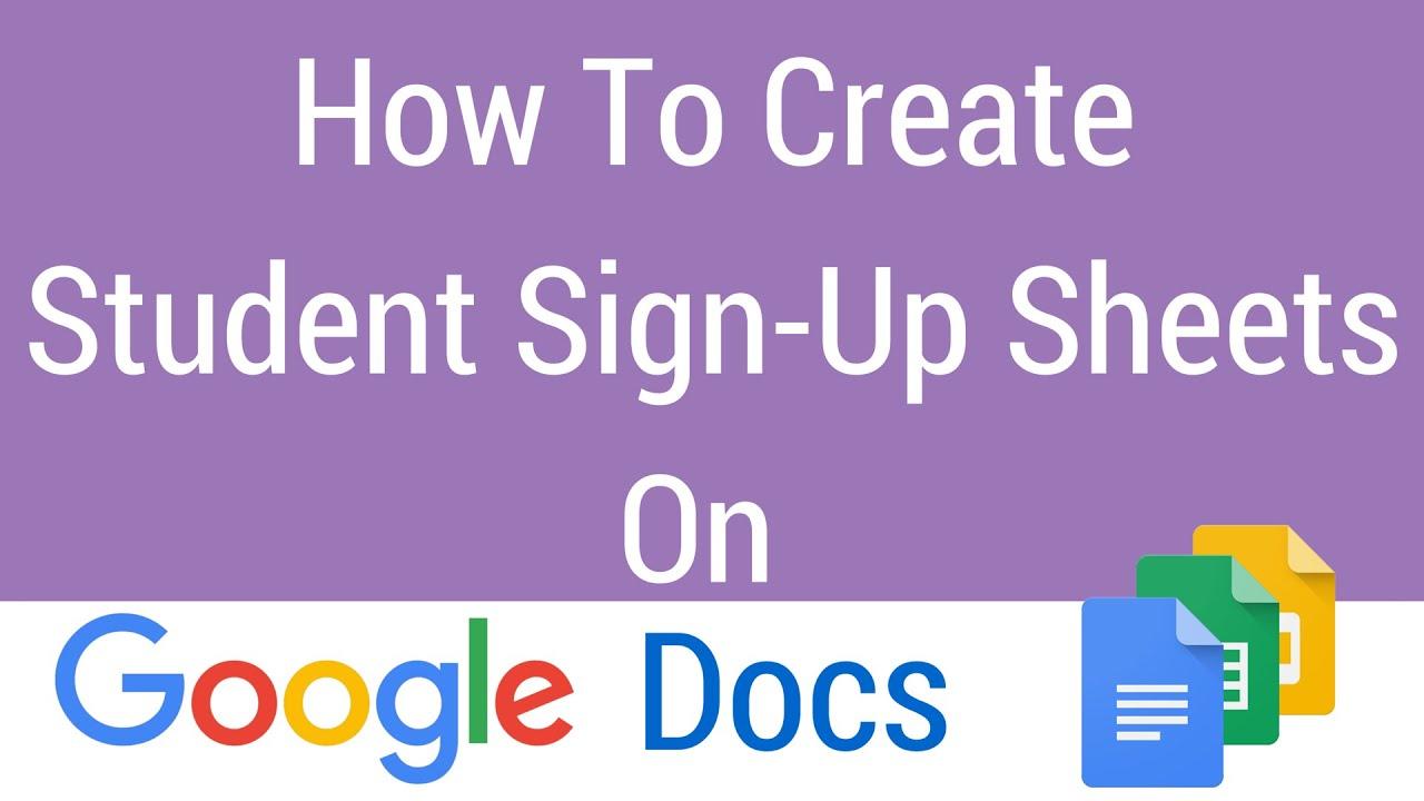 google doc sign up sheet