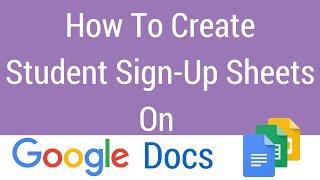كيفية إنشاء الطالب ورقة التسجيل على مستندات جوجل