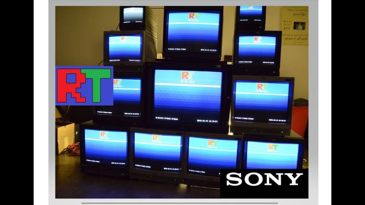 Ultimate Sony Setup - Video Wall of Monitors! by Retro Tech