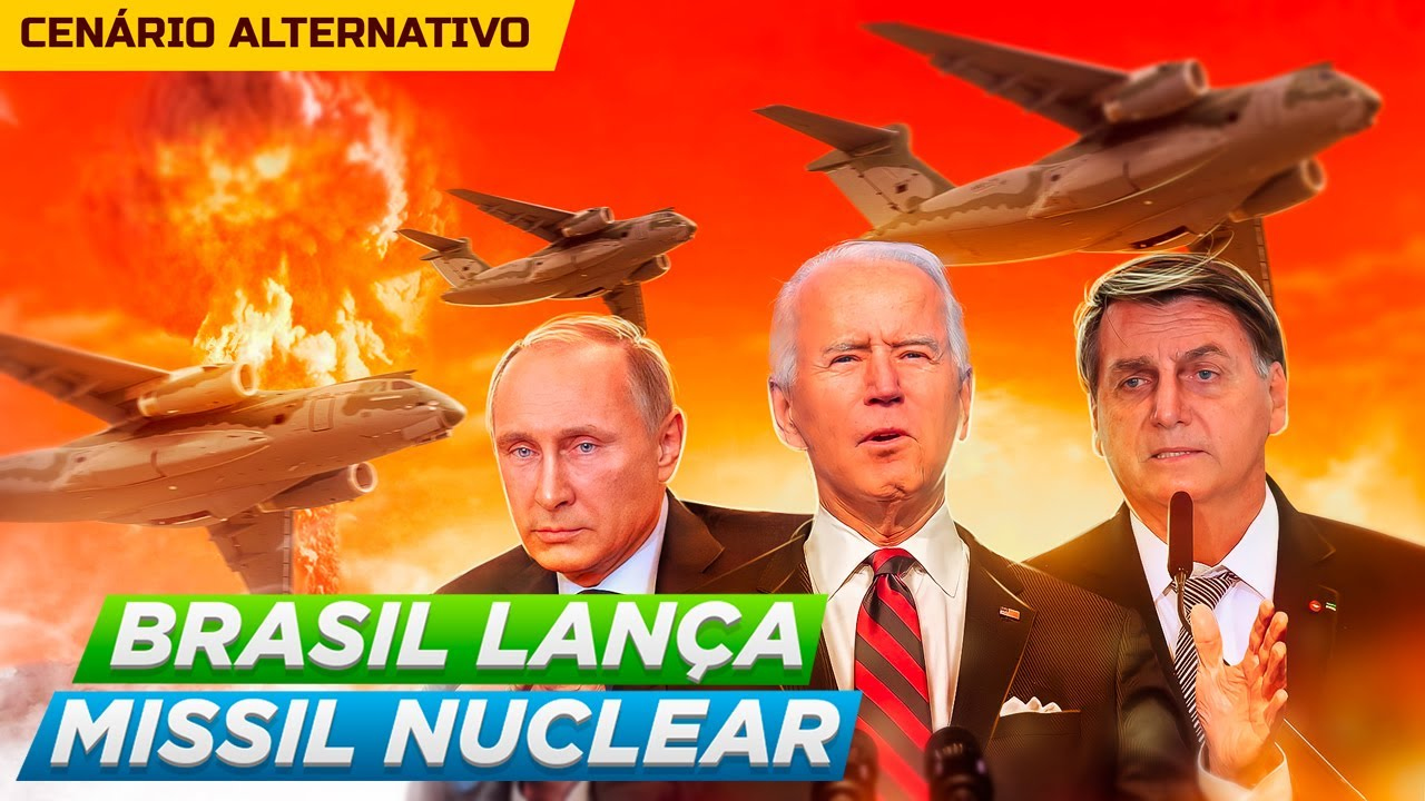 O Brasil Lança MÍSSEIS NUCLEARES - BRICS X OTAN - Cenário Alternativo 3 (Felipe Dideus)