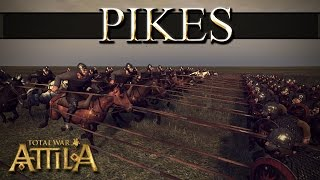 Total War Attila Mechanics - Defeating Pikes Frontally With Tagmata Cavalry?