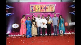 Actress Saranya Ponvannan's DSoft (Designing School of Fashion Technology) Convocation 2017