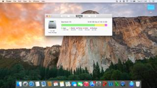 How to check hard drive space on mac