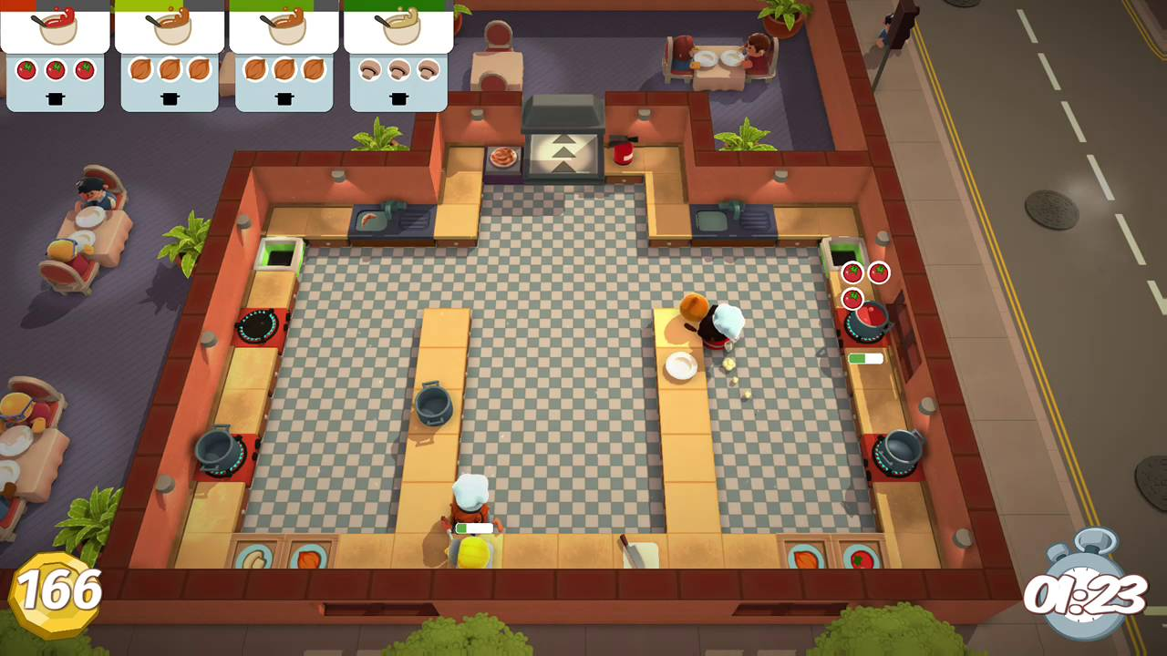 Overcooked Level 2 2 2 Player Co Op 3 Stars YouTube