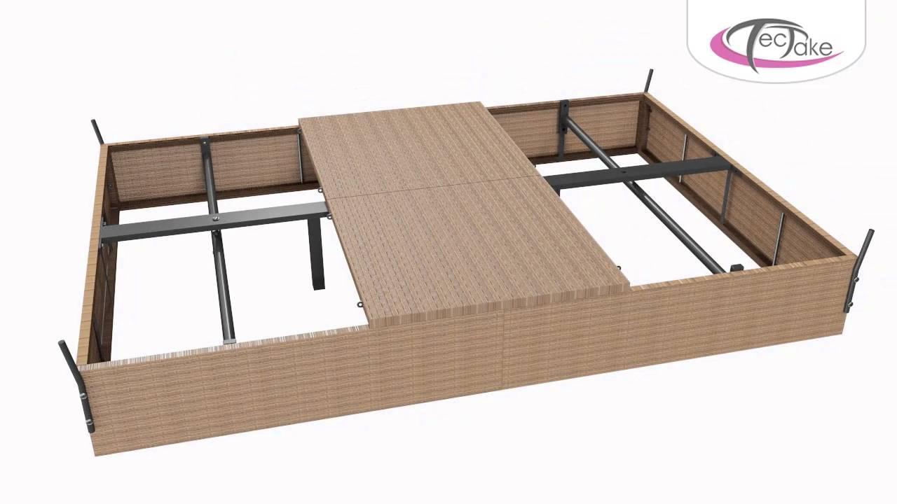 Gartenliege rattan schwarz  Rattan Doppelliege, Lounge Liege Montage | TecTake - 800171 - YouTube