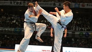 新極真会 The 11th World Karate Championship Men Quarterfinal4 Maciej Mazur Vs Yuji Shimamoto