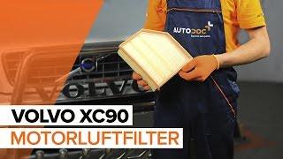 Skifte Luftfilter VOLVO XC90: verkstedhåndbok