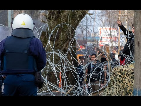Greek Police Defend EU Border As Thousands Of Migrants Trying To Enter Greece