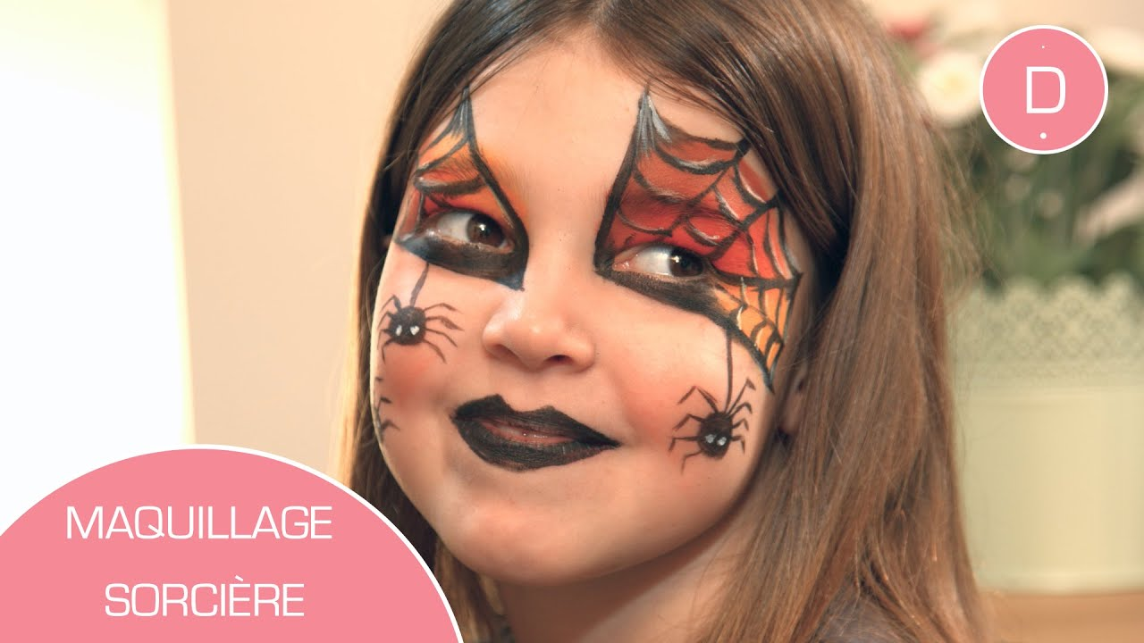Maquillage de sorci re atelier maquillage youtube - Maquillage enfant sorciere ...