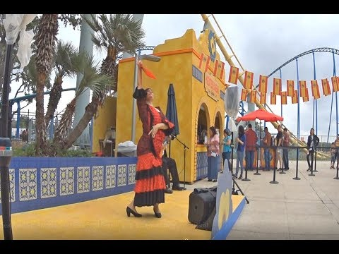 SeaWorld San Antonio Seven Seas Food Festival Spain Flamenco dancer and guitarist