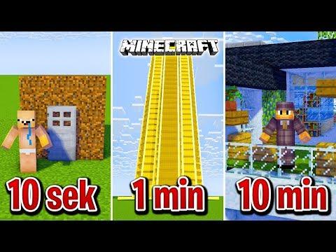 Minecraft BUDUJĘ NOWOCZESNY DOM W 10 SEKUND, 1 MINUTĘ I 10 MINUT!