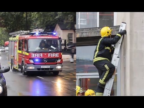 [Special Call!] London Fire Brigade - Mk2 pump A212 LFB Paddington Responding + On Scene!