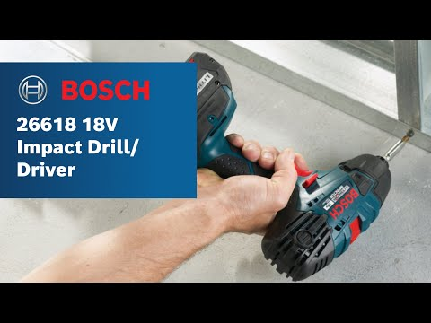 Bosch Power Tools - 26618 18V Impact Drill/Driver Product Video