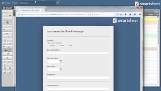 Créer un formulaire en ligne dans Smartsheet