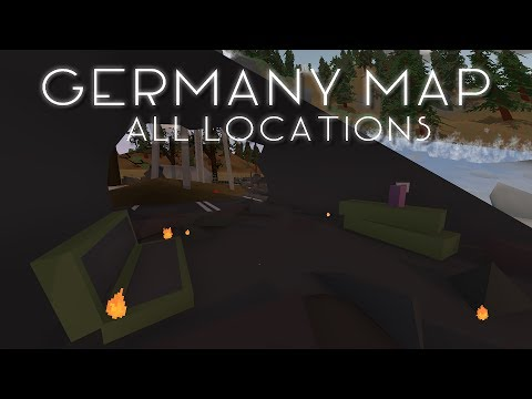 COALITION QUARANTINE. MILITARY JETS, BURNING CITY - Unturned Germany Map All Locations (extensive)