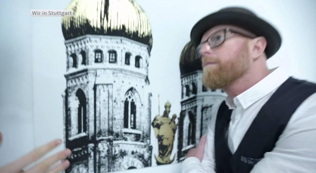 Künstler Stuttgart zu gast bei kunscht mit künstler tim bengel