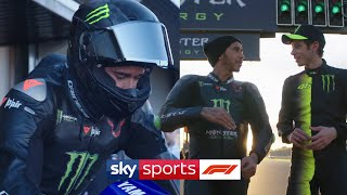 Lewis Hamilton and Valentino Rossi: F1 and Moto GP job swap 🔁