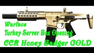 Warface - Turkey Server BOX OPENING GOLD CCR HONEY BADGER + Fy 47