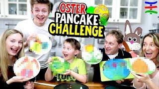 ELTERN vs. KINDER - Ostern Pancake Art Challenge! TipTapTube 😁 Family 👨👩👦👦