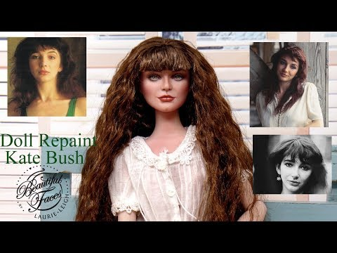 Repaint Kate Bush Chit Chat Time Lapse Learn Doll Art