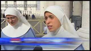 Tres monjas viajan desde México hasta Roma para rezar por el cónclave
