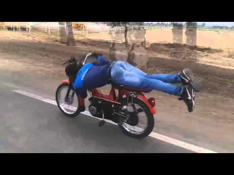 حركات خطيرة وسرعة الموت بدراجات نارية(103) kelaa des sraghna 140 km/h