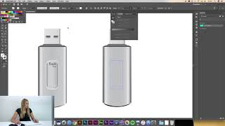 Adobe Illustrator CC Dersleri | #16 | Gradient tool - Flash bellek çizimi