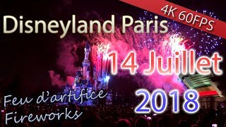 Feu artifice 14 Juillet 2018 @ Disneyland Paris - French national day fireworks