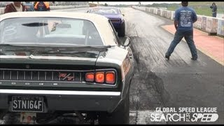 **bellowing V8**850hp Dodge Coronet **s4s Global Drag Racing League**