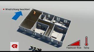 Taktische Ventilation mit Hochleistungslüfter - Rosenbauer