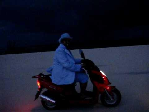 Tony Galvez aka Harry in Bimini, Bahamas on a scooter run....