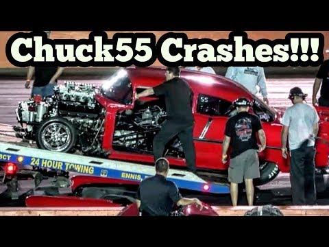 Street Outlaws Chuck55 Crashes at No Prep Kings Texas