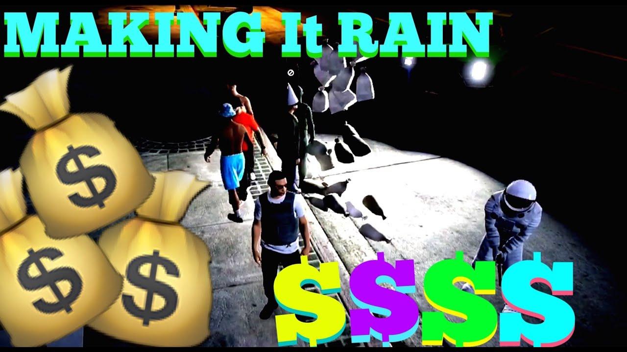 gta 5 online 3 money drop all night making it rain money bags gta v youtube