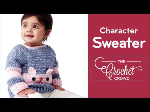 How to Crochet A Kitty Sweater: 6, 12, 18 & 24 months
